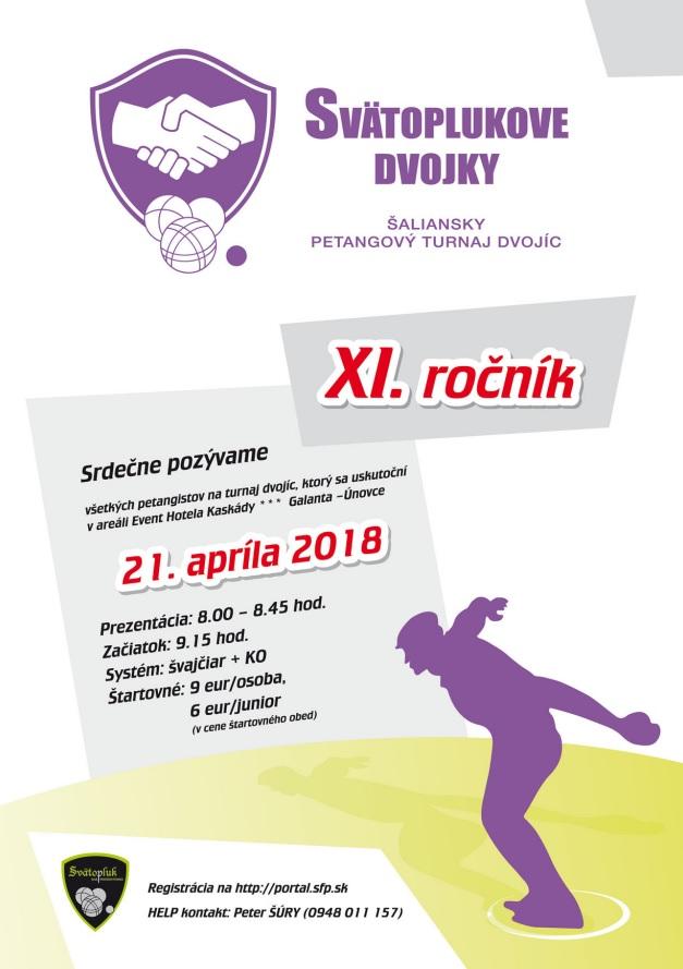 Pozvánka na petangový turnaj - Svätoplukove dvojky dňa 21.apríla 2018