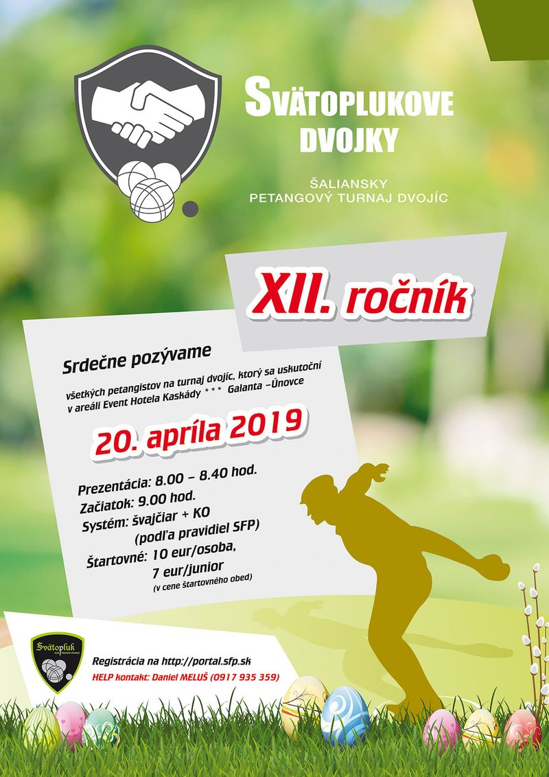 Petangový turnaj - Svätoplukové dvojky 2019