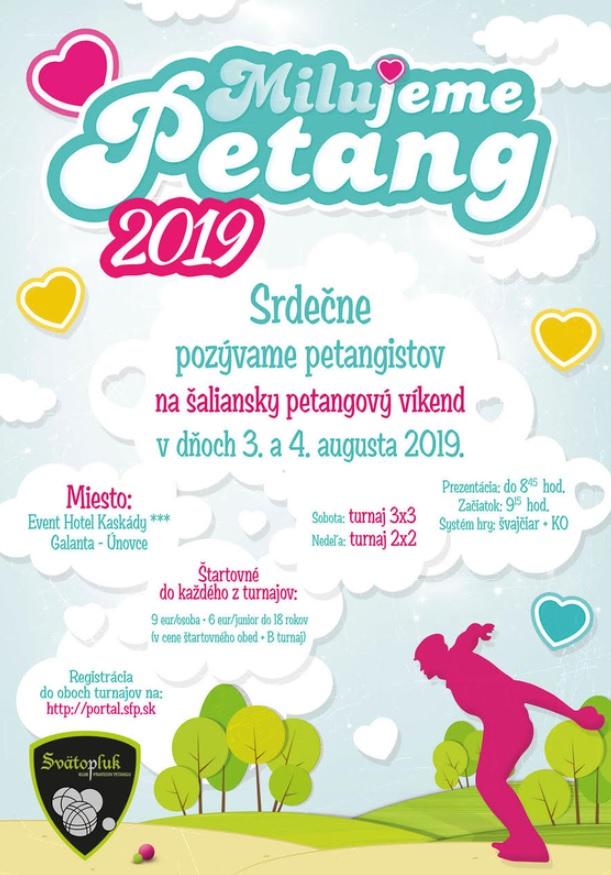Pozvánka na petangový víkend – Milujeme Petang 3. a 4. augusta 2019