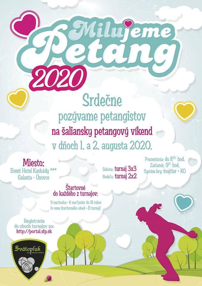 Pozvánka na petangové turnaje - Milujem Petang 2020