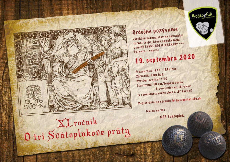 Pozvánka na 11. ročník petangového turnaja: O tri Svätoplukove prúty