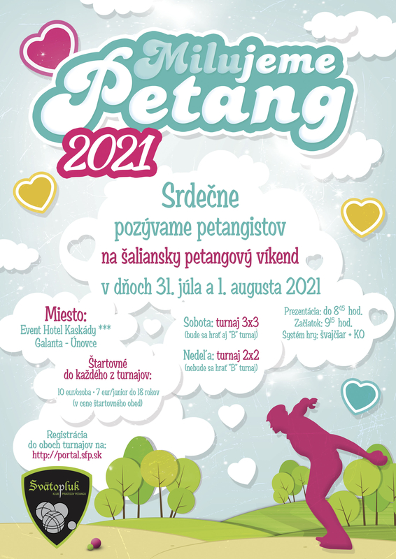 Pozvánka na petangový víkend – Milujeme Petang 31. júla a 1. augusta 2021